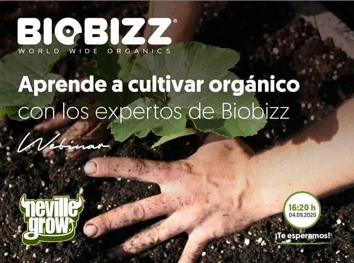 Primer webinar de Bio Bizz en Neville grow 4 de septiembre a las 4:20