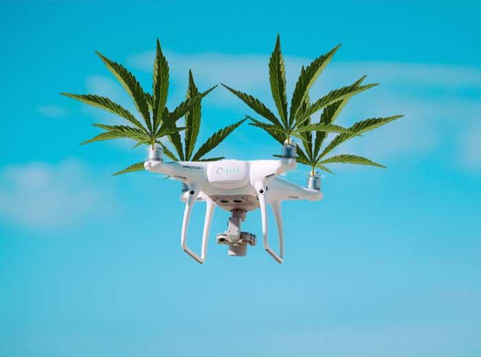 Un drone arroja cientos de bolsas de marihuana gratis en Israel
