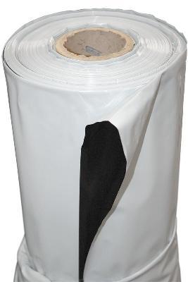 Plástico Reflectante Blanco Y Negro Grueso 2m X 1m