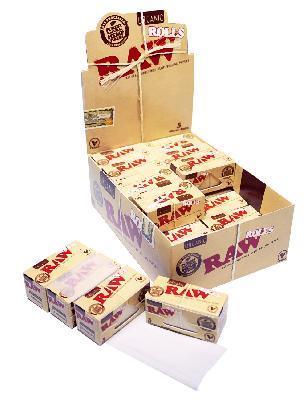 Caja Raw Papel Orgánico Rollos