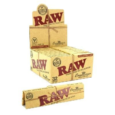 Caja Raw Natural Connoisseur Kingsize Slim Organic + Tips