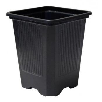 Maceta Negra Teku 7x7x8cm