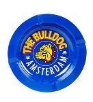 The Bulldog Cenicero Metálico De Color Azul